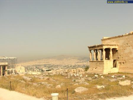 Фото: Афинский акрополь, Гекатомпедон, храм Афины
