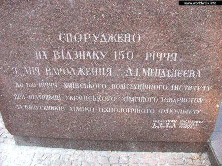 Фото: Памятник Д. И. Менделееву