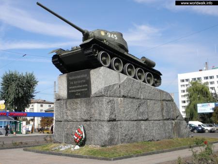 Фото: Памятник танк Т-34