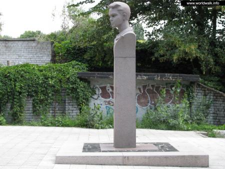 Фото: Памятник-бюст В. Н. Дубинину