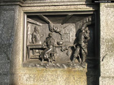 Фото: Памятник-бюст И. П. Котляревскому