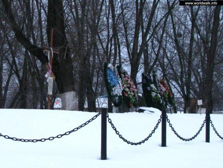 Фото: Памятный крест жертвам Дарницкой трагедии 1944 г.