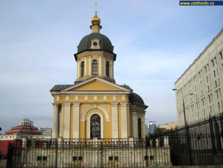 Фото: Храм-часовня Бориса и Глеба на Арбатской площади