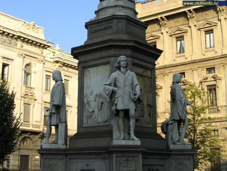 Фото: Памятник Леонардо да Винчи