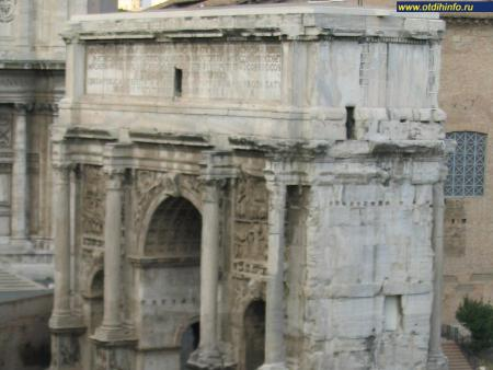 Фото: Триумфальная арка Септемия Севера, Римский Форум